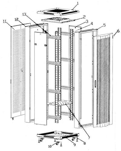 Схема сборки шкафов серии