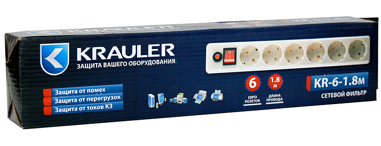 Krauler упаковка сетевого фильтра